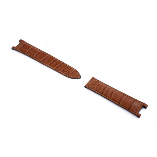 RIOS1931 Cognac Versailles Genuine Alligator Watch Strap For Pasha de Cartier | Panatime.com