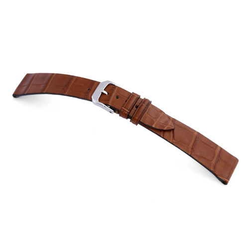 RIOS1931 Cognac Zurich Genuine Alligator Watch Strap For Patek Philippe | Panatime.com
