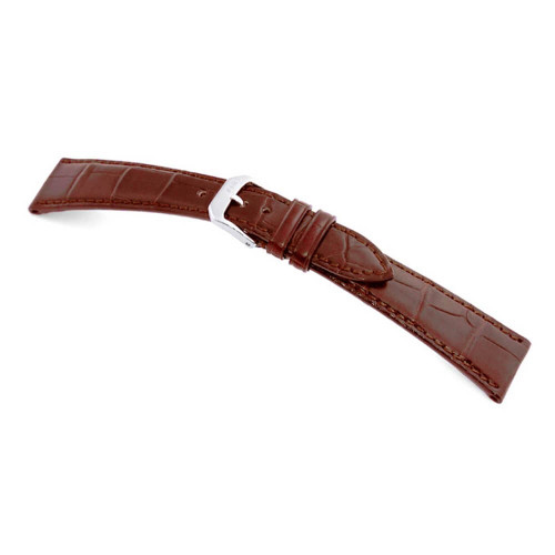 RIOS1931 Mahogany Geneve Genuine Alligator Watch Strap For Patek Philippe | Panatime.com
