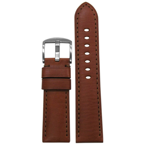 24mm Rou HZ Soft Calf Sport Leather - Padded, Match Stitching | Panatime.com