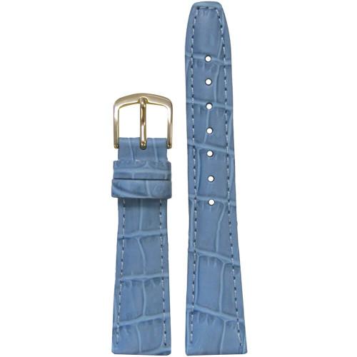 16mm Light Blue Leather Semi-Matte Alligator Grain, Ladies Classic (LS135) | Panatime.com