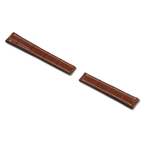 RIOS1931 Cognac Aero Genuine Alligator Watch Strap For Breitling Deploy | Panatime.com