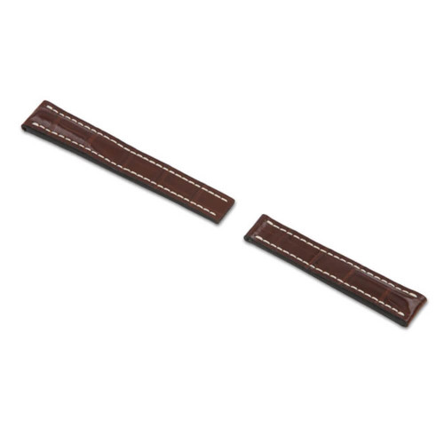 RIOS1931 Mahogany Aero Genuine Alligator Watch Strap For Breitling Deploy | Panatime.com