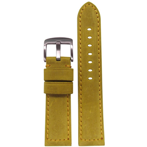 "24mm (XL) Golden ""Buck"" Vintage Soft Suede Leather - Padded, Match Stitching 