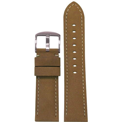 26mm Cork Soft Calf Sport Leather - Padded, White Stitching | Panatime.com