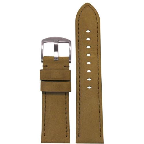 26mm Cork Soft Calf Sport Leather - Padded, Match Stitching | Panatime.com