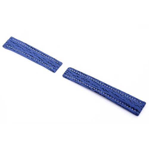RIOS1931 Royal Blue Continental Genuine Shark Watch Strap For Breitling Deploy Clasp | Panatime.com