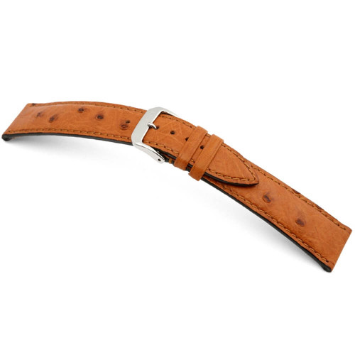 RIOS1931 Cognac Maison, Genuine Ostrich Watch Strap | Panatime.com