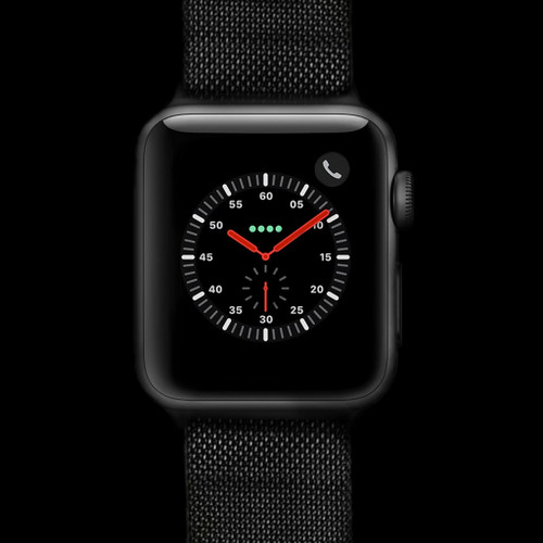 Black (PVD) Mesh Stainless Steel Watch Strap with Magnetic Closure for Apple Watch | Panatime.com