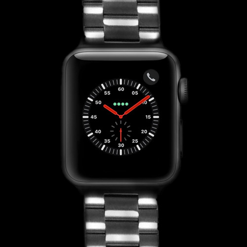 Stainless Steel Heavy Weight Metal Link Watch Strap for Apple Watch | Panatime.com