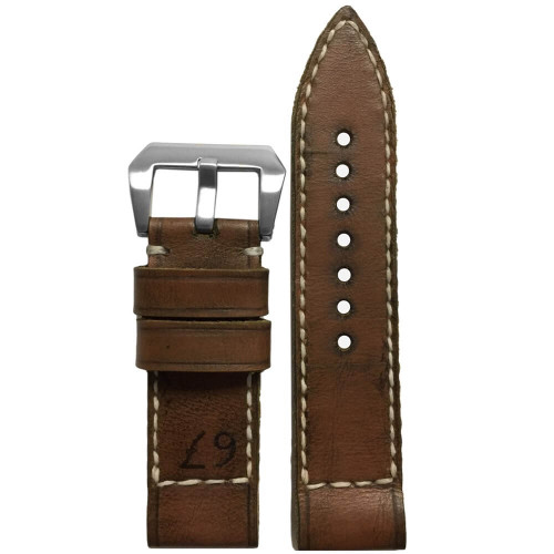 "24mm Gunny Straps ""67"" - Genuine Vintage Leather Watch Strap for Panerai 