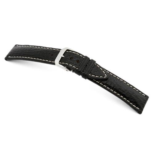 RIOS1931 Black Wave, Genuine Shark (Water Resistant) Watch Strap | Panatime.com