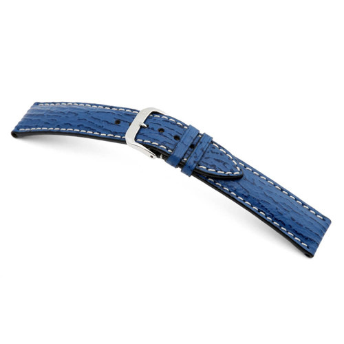 RIOS1931 Royal Blue Wave, Genuine Shark (Water Resistant) Watch Strap | Panatime.com