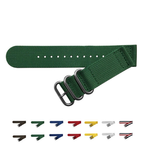 Two-Piece Ballistic Nylon NATO (V2) Watch Strap - Main | Panatime.com