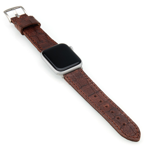 Brown Vintage Gator Leather | Fits 42mm Apple Watches | Panatime.com