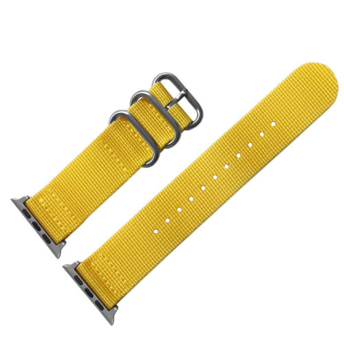 Yellow Two Piece Nylon NATO | Fits 42mm Apple Watch
