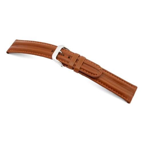 RIOS1931 Cognac California Sport, Saddler's Leather Watch Strap | Panatime.com