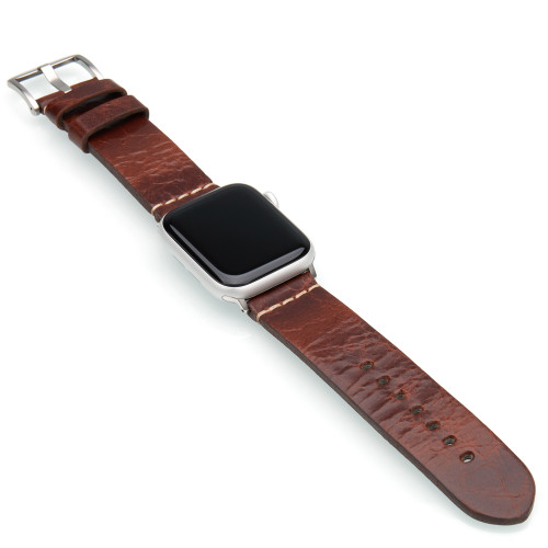 Aged Vintage Calf Leather Watch Band | For 42mm Apple Watch
