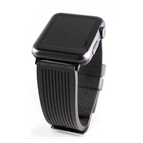 NBR Rubber - Striped Diver | Fits 42mm Apple Watch