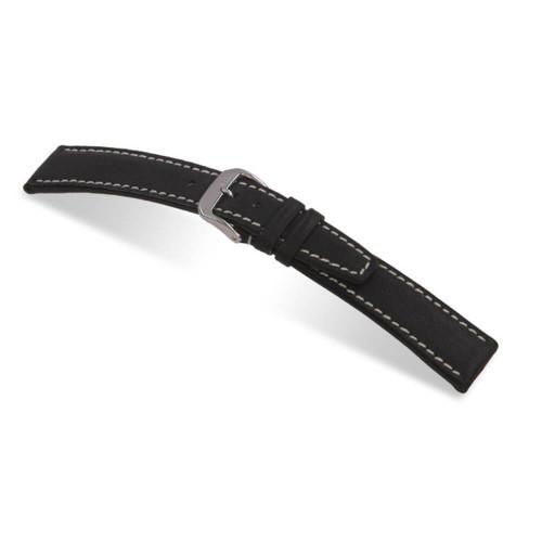 RIOS1931 Black Havana, Pigskin Leather Watch Strap | Panatime.com