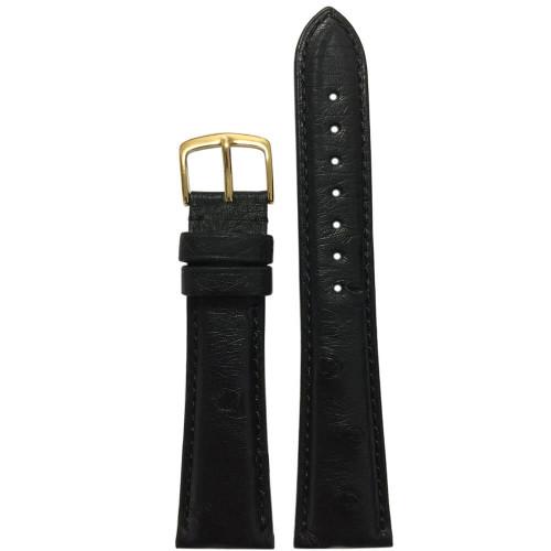 20mm Black Ostrich (MS2003) | Handmade in USA