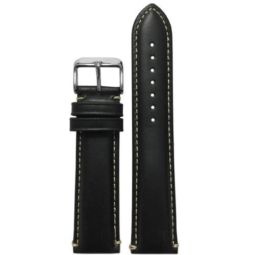 24mm Black Oil-Tan Leather (MS885)