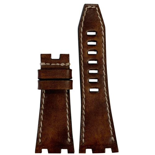 Panettone Vintage Leather for 42MM AP Royal Oak Offshore - For OEM Deploy Clasp | Panatime.com