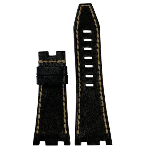 Charcoal Vintage Leather for 42MM AP Royal Oak Offshore | Panatime.com