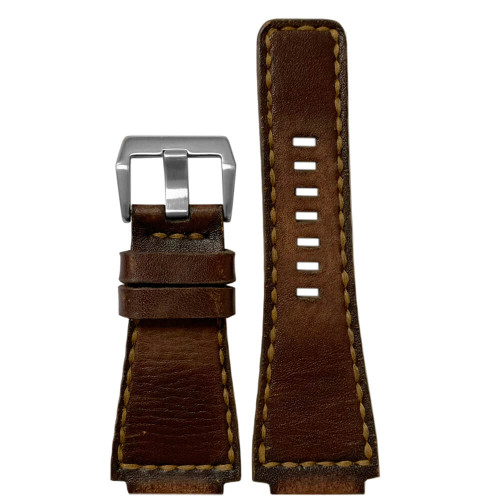 Gunny Caitlin 4 - Vintage Leather Watch Band For Bell & Ross (Handmade) | Panatime.com