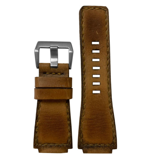 Gunny Caitlin 2 - Vintage Leather Watch Band For Bell & Ross (Handmade) | Panatime.com