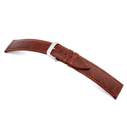 Mahogany RIOS1931 Brazil, Embossed Crocodile Grain Leather Watch Band | Panatime.com