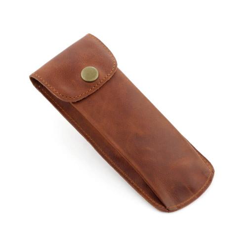RIOS1931 Constantin | Cognac Vintage Leather Watch Pouch