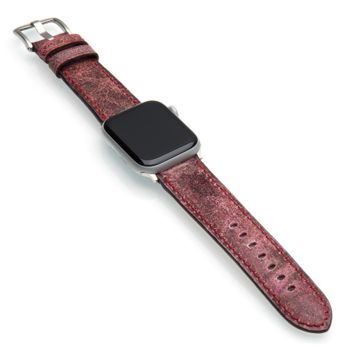 Rugby | Aged Vintage Leather Watch Band for Apple Watches | Panatime.com