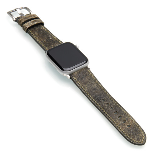 Bristol | Aged Vintage Leather Watch Band for Apple Watches | Panatime.com