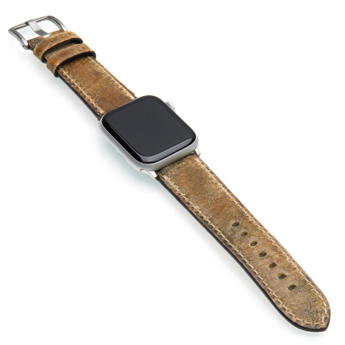 Lumberton | Aged Vintage Leather Watch Band for Apple Watches | Panatime.com