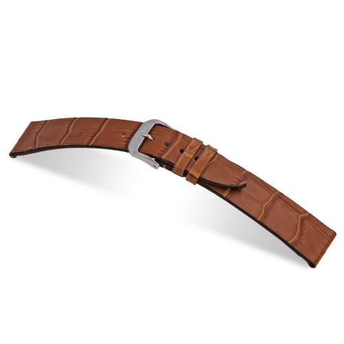 Cognac RIOS1931 Miami, Embossed Alligator Grain Leather Watch Band | Panatime.com