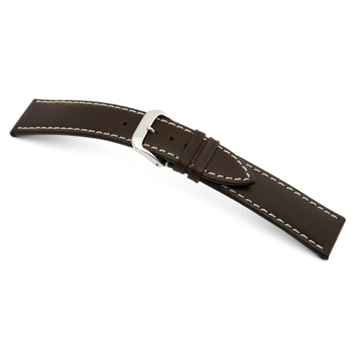 RIOS1931 Mocha Pensa, Russian Leather Watch Strap | Panatime.com