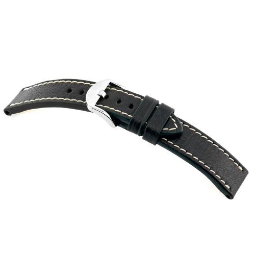 Black RIOS1931 Starnberg, Organic Leather Watch Band   Panatime.com