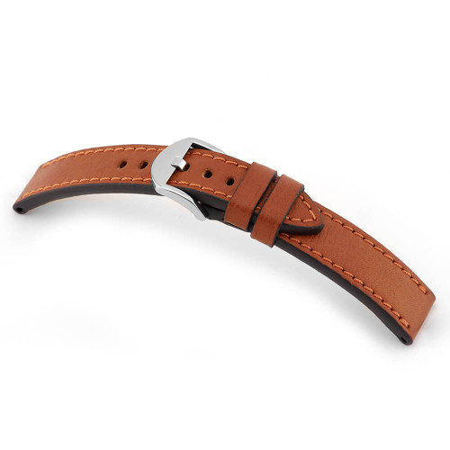 Cognac RIOS1931 Tegernsee, Organic Leather Watch Band | Panatime.com