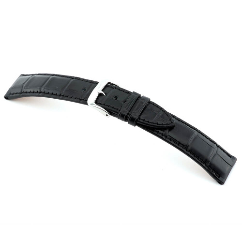 Black RIOS1931 Imperator, Genuine Alligator Watch Band | Panatime.com