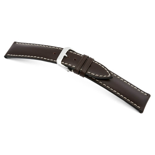 RIOS1931 Mocha St. Petersburg, Russian Leather Watch Strap | Panatime.com