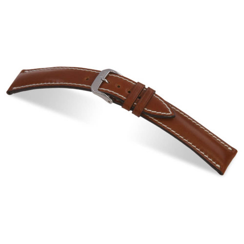 RIOS1931 Cognac New York, Genuine Shell Cordovan Leather Watch Strap | Panatime.com