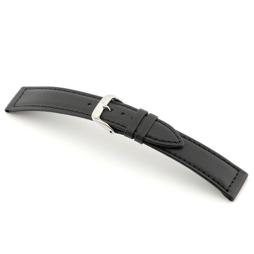 Black RIOS1931 Scuba, Water Resistant Leather Watch Band   Panatime.com