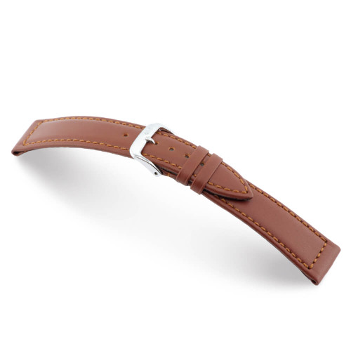 Mahogany RIOS1931 Scuba, Water Resistant Leather Watch Band | Panatime.com