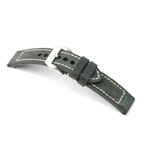 Stone Grey RIOS1931 Liverpool, Vintage Leather Watch Band | Panatime.com