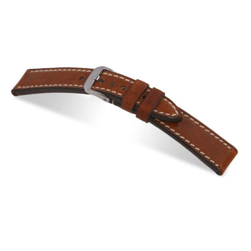 RIOS1931 Cognac Oxford, Genuine Vintage Leather Watch Strap | Panatime.com