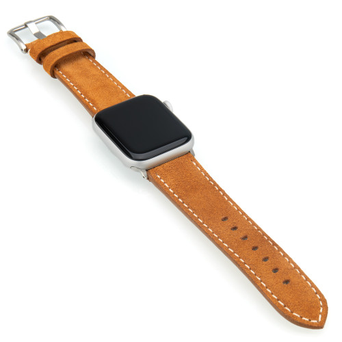 Khaki Velour Watch Band | Fits 42mm & 44mm Apple Watch | Panatime
