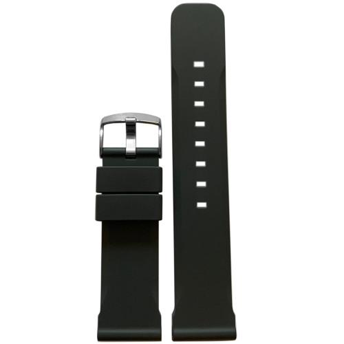 22mm Carbon Bonetto Cinturini Model 317 - Genuine NBR Italian Rubber Watch Strap | Panatime.com