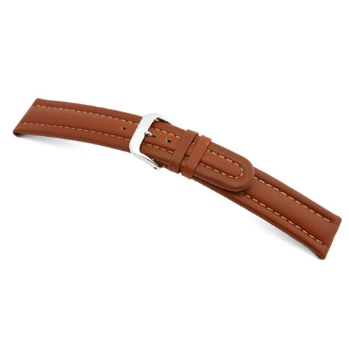 RIOS1931 Cognac Veneto, Calf Leather Watch Strap | Panatime.com
