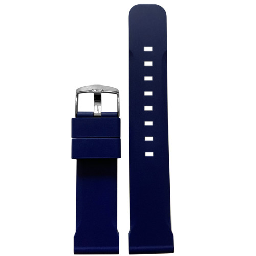 22mm Royal Blue Bonetto Cinturini Model 317 - Genuine NBR Italian Rubber Watch Strap | Panatime.com